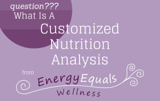 customized nutrition analysis