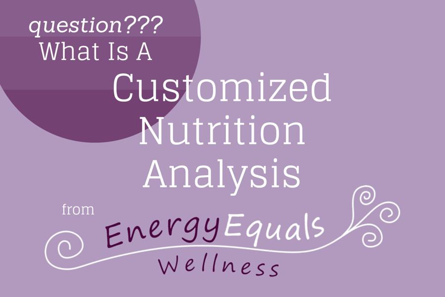 customized nutrition analysis